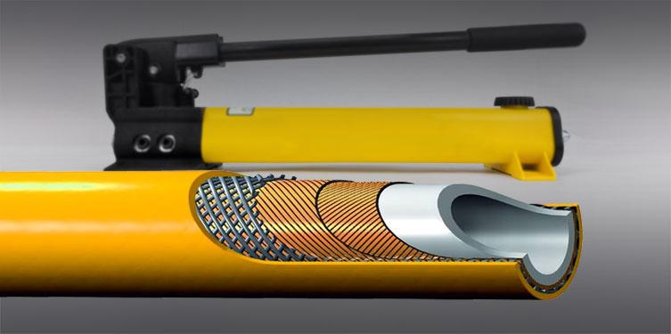 Hochdruck-Hydraulikschlauch 2340N mit 720 bar für Ihre Hebe- und Werkzeughydraulik.