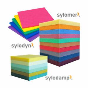 Sylomer, Sylodyn und Sylodamp