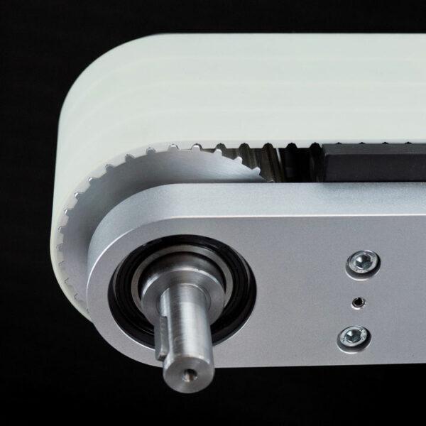 Zahnriemenförderer ZRF 100 Detailansicht der Antriebswelle.