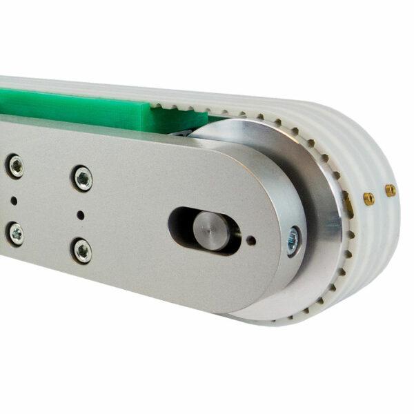 Zahnriemenförderer ZRF 80 Detailansicht mit Welle.