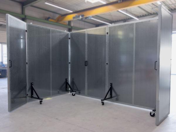 Sonosorp Lämschutzwand mobil für die Industrie.